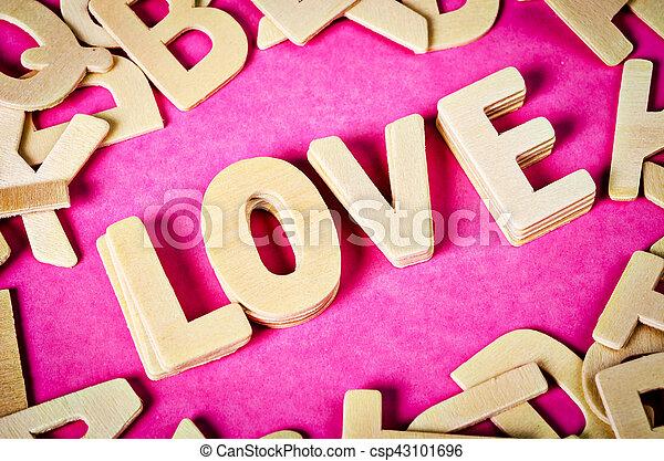 The word LOVE - csp43101696