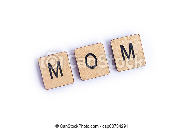 The word MOM - csp63734291