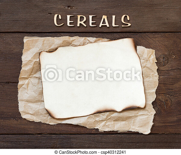 The word of Cereals with paper - csp40312241