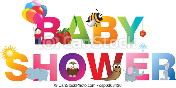 The words baby shower - csp6383438