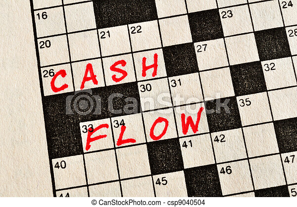 The Words Cash Flow on Crossword Puzzle - csp9040504