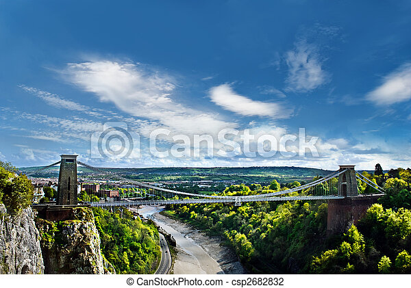The World Famous Clifton Suspension Bridge, situated in Bristol, UK. - csp2682832