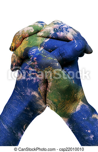 The world in your hands earth map furnished by nasa a stock the world in your hands earth map furnished by nasa csp22010010 gumiabroncs