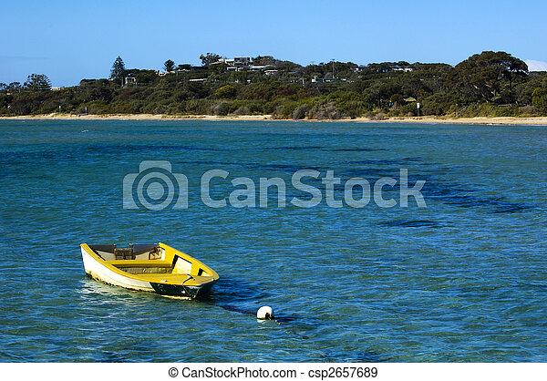 The yellow boat - csp2657689