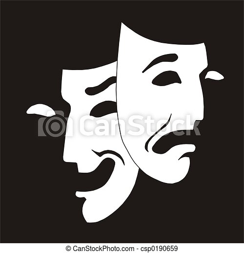 theater mask - csp0190659