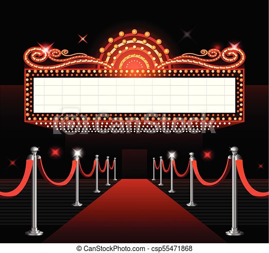 Theater Sign Movie Premiere Theater Entrance Sign Movie Premiere Red Carpet