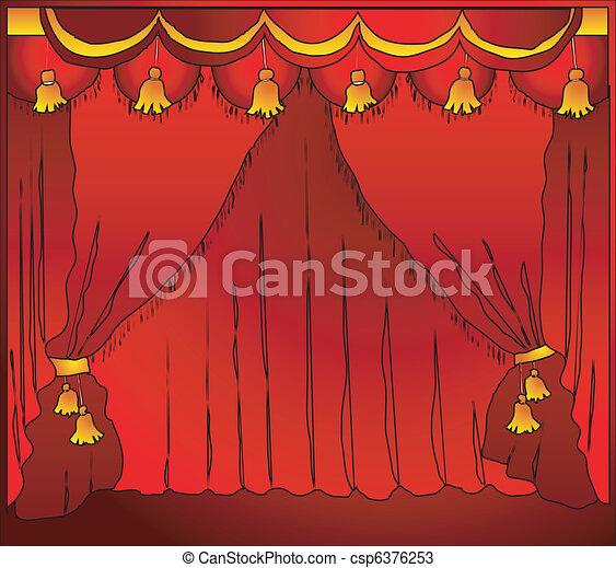 Theatre curtain - csp6376253