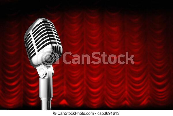 theatre curtain - csp3691613