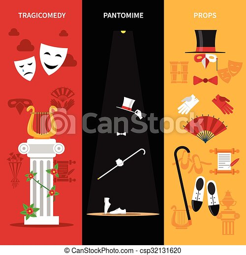 Theatre Performance Banners Set - csp32131620