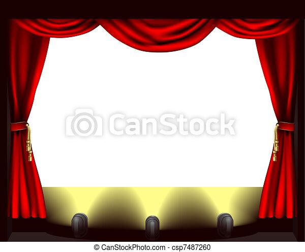 Theatre stage - csp7487260