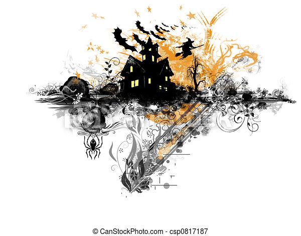 thema, halloween - csp0817187