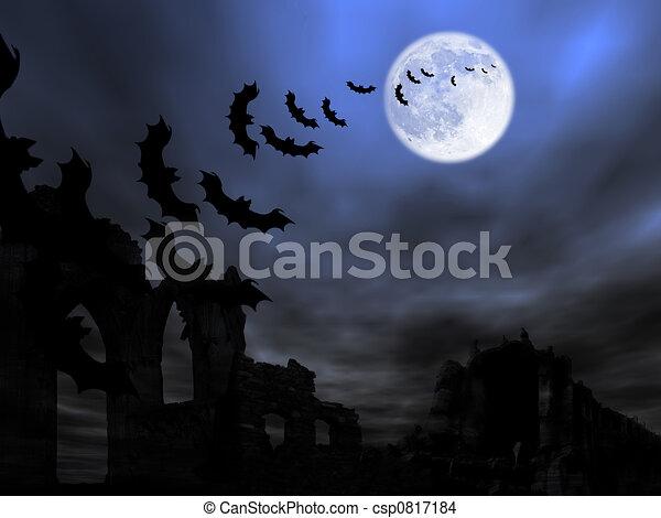 thema, halloween - csp0817184
