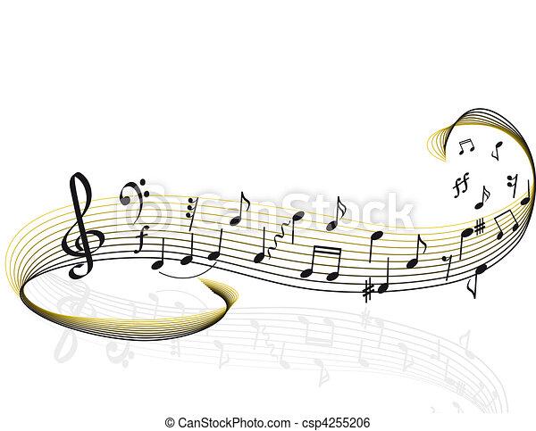 thema, muziek - csp4255206
