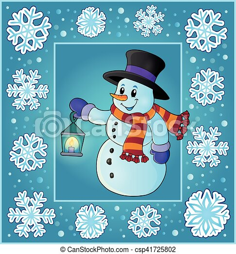 Temática de Navidad saludos - csp41725802