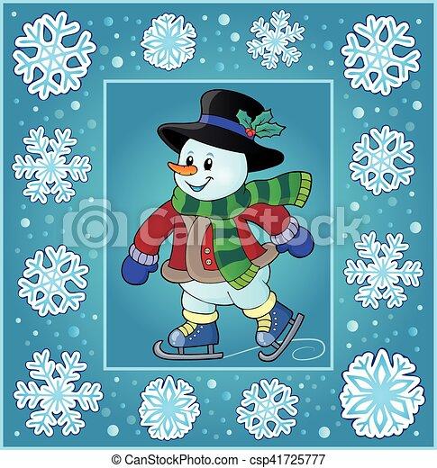 Temática de Navidad saludos - csp41725777