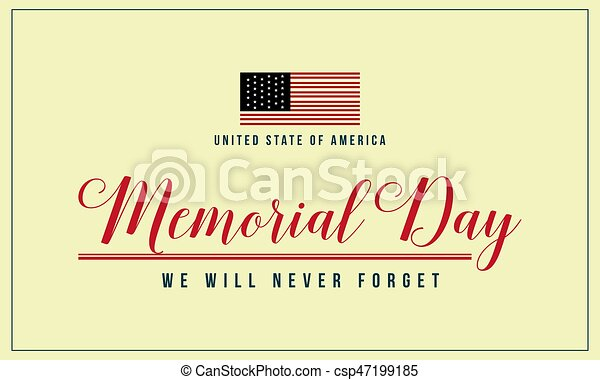 Theme memorial day background collection - csp47199185