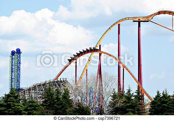 theme park roller coaster - csp7396721