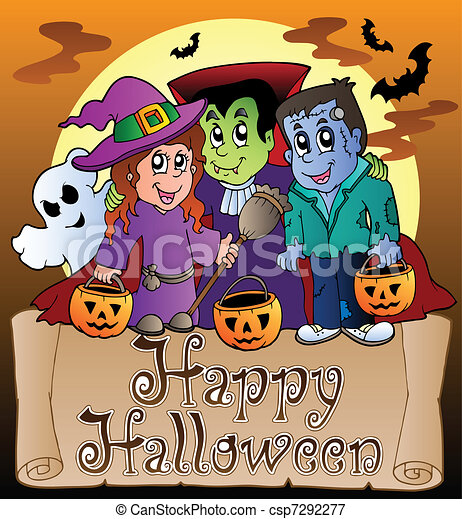 Theme With Happy Halloween Banner 3 Vector