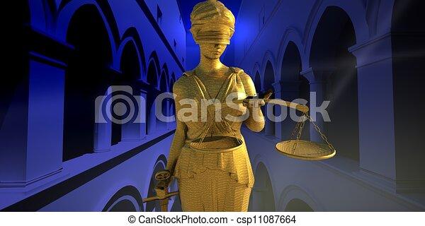 Themis in court - csp11087664