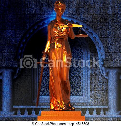 Themis en la corte - csp14518898