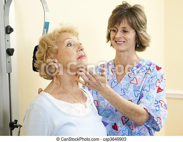 therapie, -, hals, physisch - csp3649903