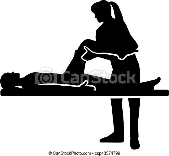 therapist, vrouwlijk, lichamelijk - csp43574799