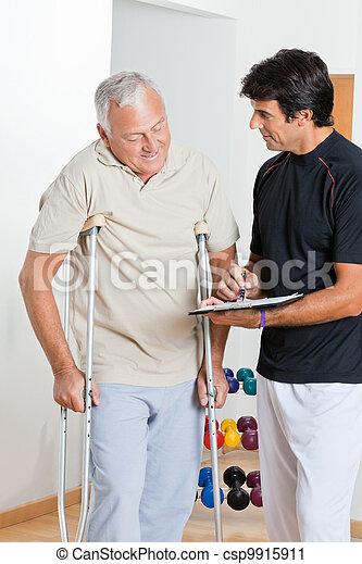 Therapist With Senior Man - csp9915911