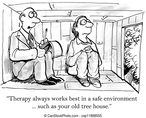 Therapy always works better in a safe environment - csp11868555