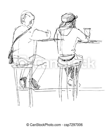there are two fellows at the table - csp7297006