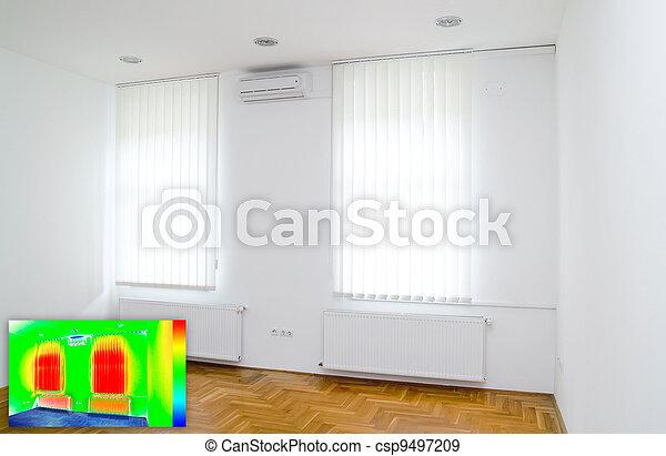 Thermalbild von leerem Raum - csp9497209