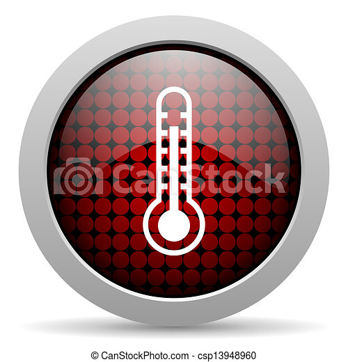 thermometer glossy icon - csp13948960