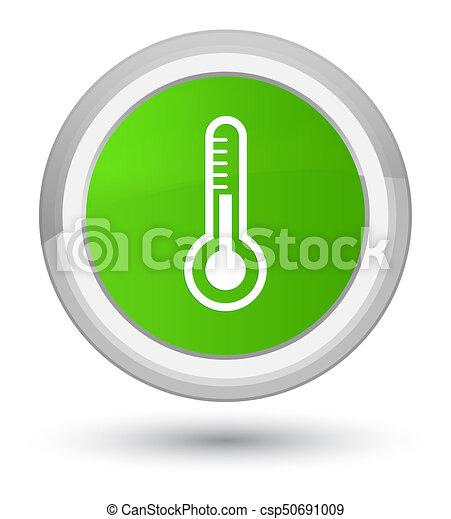 Thermometer icon prime soft green round button - csp50691009