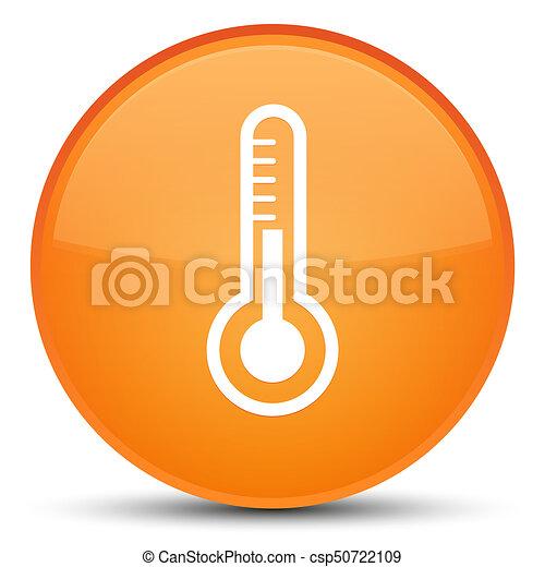 Thermometer icon special orange round button - csp50722109