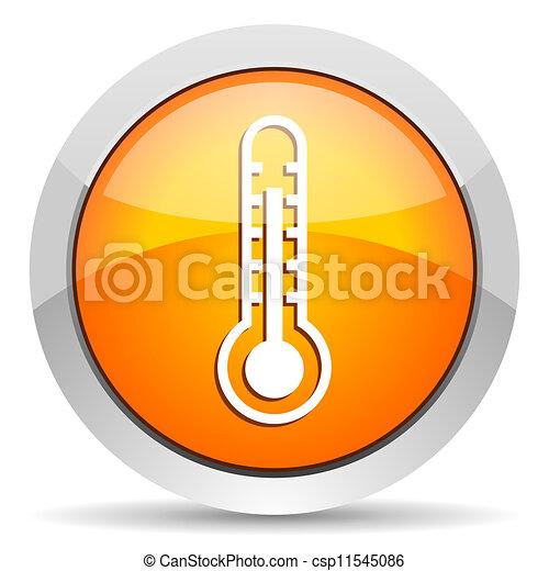 thermometer icon - csp11545086