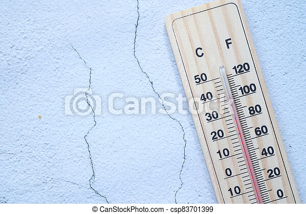 thermometer isolated on white background, top view . - csp83701399