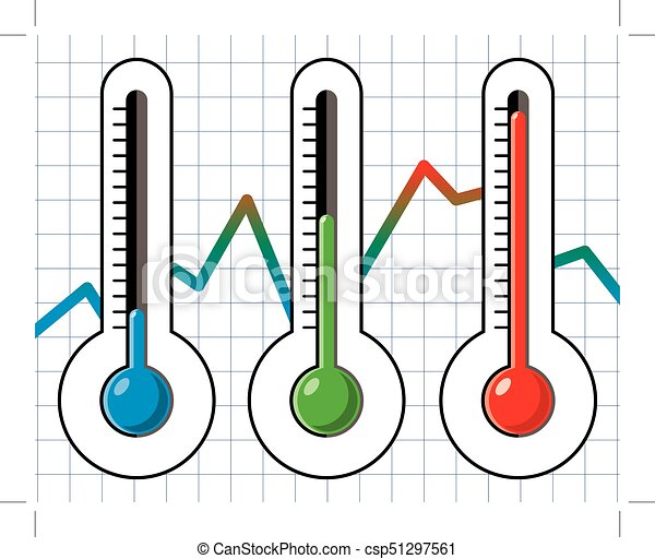 thermometers at different levels - csp51297561