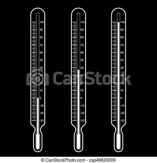thermometers  Vector illustration - csp49620009