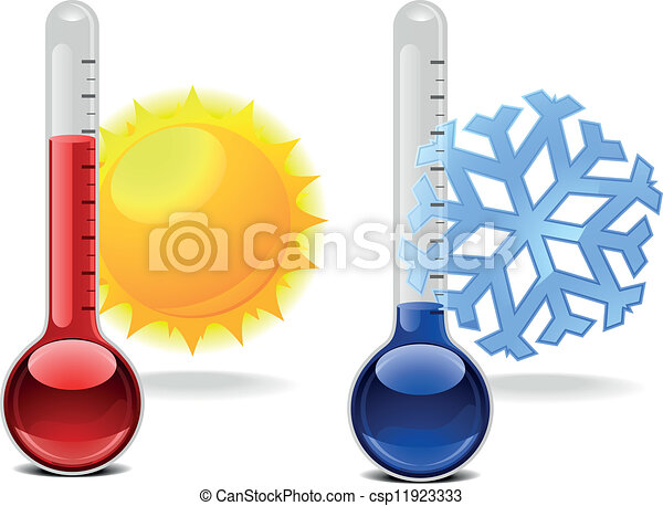 thermometers with symbols - csp11923333