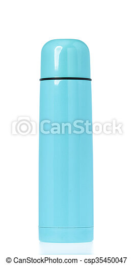 Thermos flask isolated on white - csp35450047