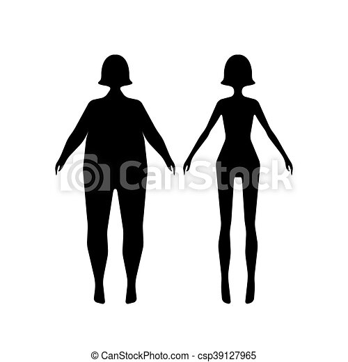 Slim Body Clipart