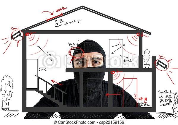 Thief apartment - csp22159156