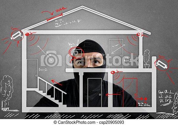 Thief apartment - csp20905093
