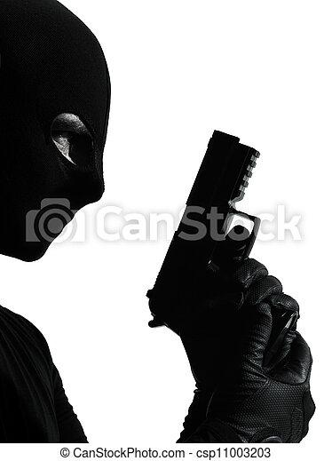 Criminal With Gun Clipart