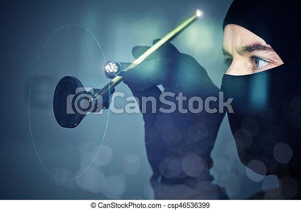 thief in action - csp46536399