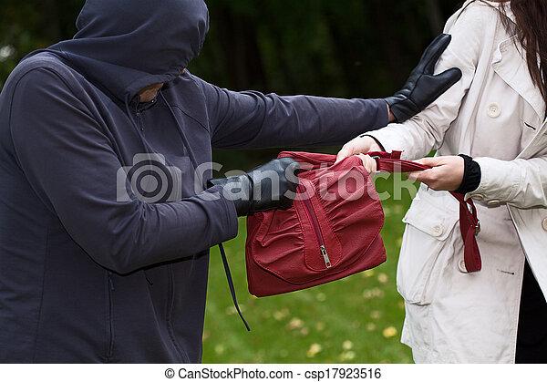 Thief in the park - csp17923516
