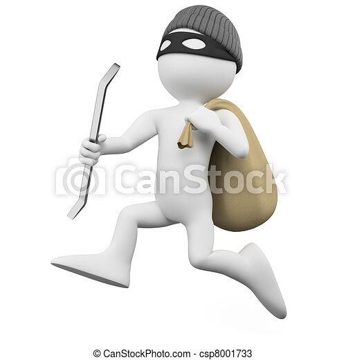 Thief running with a sack - csp8001733