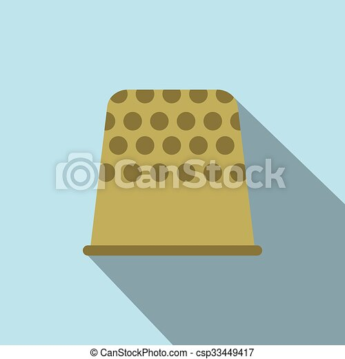 Thimble flat icon - csp33449417