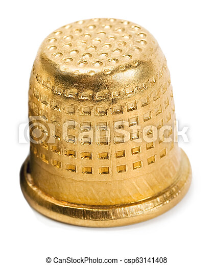 Thimble gold isolated - csp63141408