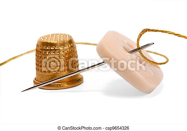thimble needle thread - csp9654326