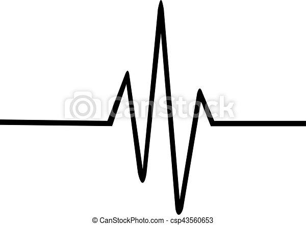 Thin heartbeat line - csp43560653